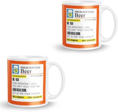 posterchacha Beer  For Patient Name Yash Pack of 2 Ceramic Mug