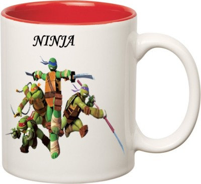 Huppme Ninja Turtle Fan Inner Red  Ceramic Mug