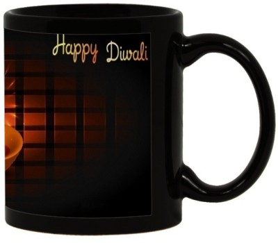 Lolprint 16 Diwali Gift Black Ceramic Mug