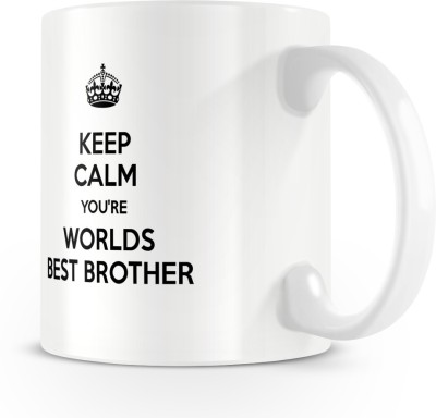 posterchacha You Are The World's Best Brother White Tea And Coffee Gift For Brother Bone China Mug