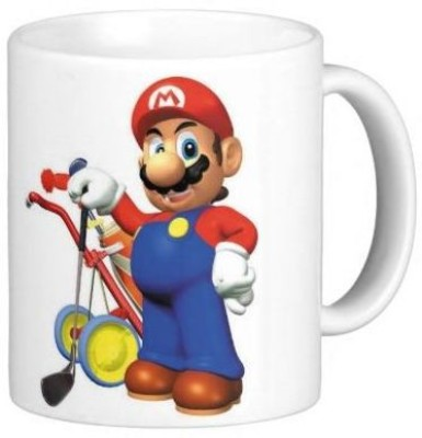 G&G Mario With Golf Kit Ceramic Mug