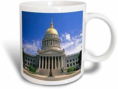 3dRose West Virginia Charleston, State Capitol Building Us49 Dfr0005 David R. Frazier Ceramic , 11 oz, White Ceramic Mug