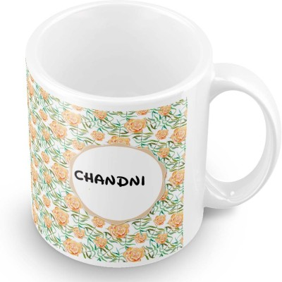 posterchacha Chandni Floral Design Name  Ceramic Mug