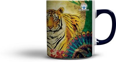 The Indian Powerful (Blue Colour Handle) Coffee Ceramic Mug