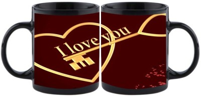 Shoperite I Love You In Key Style Ceramic Mug