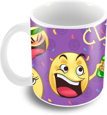 Thecrazyme Party Emoticons Ceramic Mug