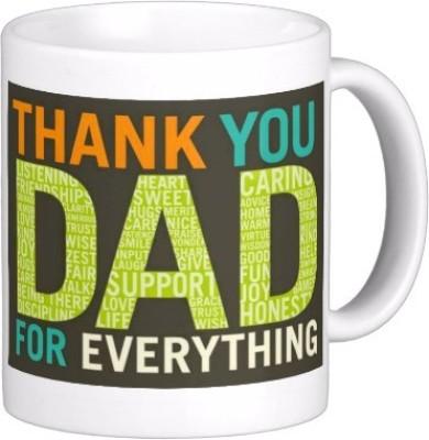 Exoctic Silver Father Dad Papa Baba Pitaji Abba x020 Ceramic Mug(300 ml)