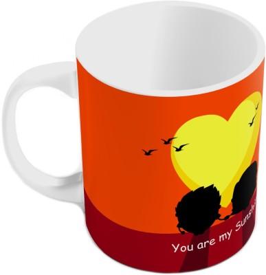 Indiangiftemporium Designer Romantic Print Coffee  811 Ceramic Mug