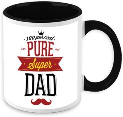 HomeSoGood 100 Percent Pure Super Dad Ceramic Mug