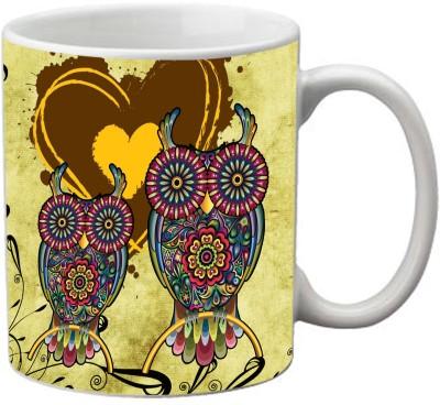 Romanshopping Owl  Bone China Mug