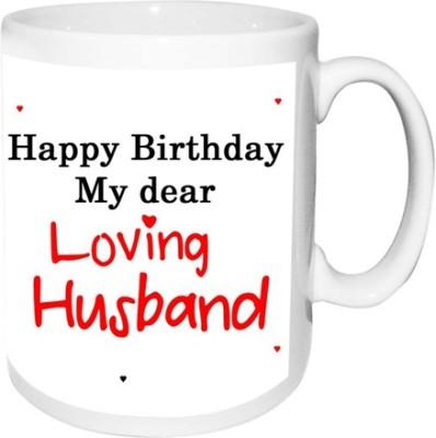 alwaysgift Happy Birthday My Dear Loving Husband  Ceramic Mug