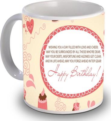 Print Helllo Happy Birthday R127 Ceramic Mug