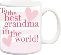 IZOR Gift for Grandparents/mom/mammy/maa On Birthday/Special Occasion;tO the best grandma in the world printed Ceramic Mug