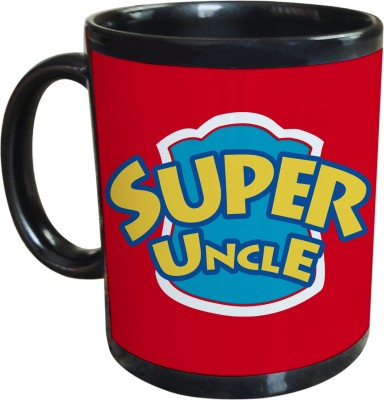 Sajawat Homes Gifts For Super Uncle Black Coffee Ceramic Mug
