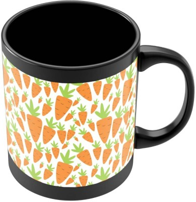 PosterGuy Carrots Pattern Quirky Ceramic Mug