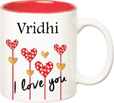 Huppme I Love You Vridhi Inner Red  (350 ml) Ceramic Mug