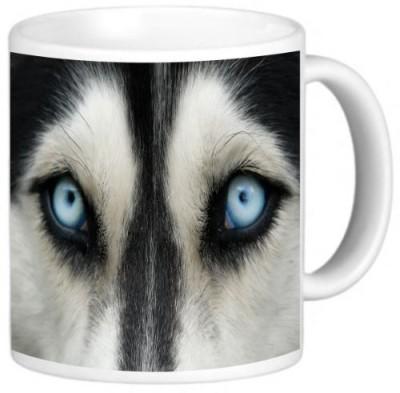 Rikki Knight LLC Knight Photo Quality Ceramic Coffee , 11 oz, Wolf Close Up Ceramic Mug