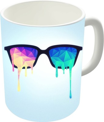 The Fappy Store Psychedelic Nerd Glasses With Melting Lsd Ceramic Mug