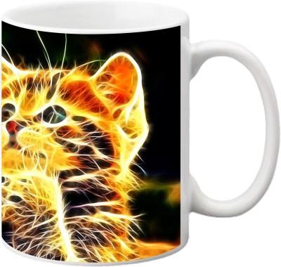 ezyPRNT Lightning Cat Ceramic Mug