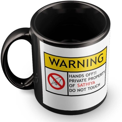posterchacha Sathiya Do Not Touch Warning Ceramic Mug