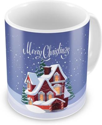 Kiran Udyog Kiran UdyogPrinted Snow House Blue Coffee  613 Ceramic Mug