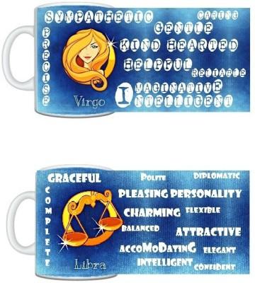 CreativesKart Zodiac Virgo (M) Libra (F) Compatibility  Ceramic Mug