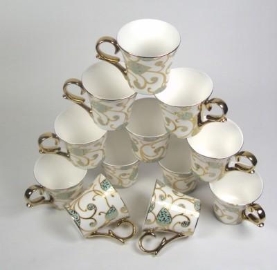 Clay Craft CP/Ebony gold Leaf Bone China Mug