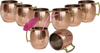 Dakshcraft Hammered Dutch Style Lacquered Finish Copper Mug