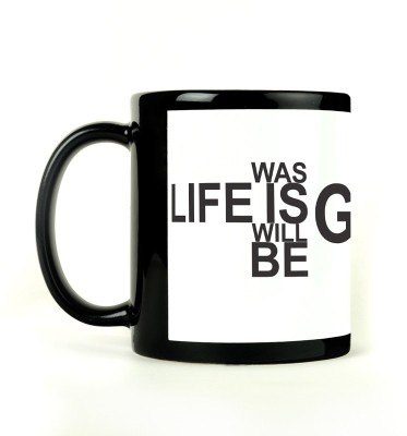 AURRA PRINTED BLACK-449 Ceramic Mug