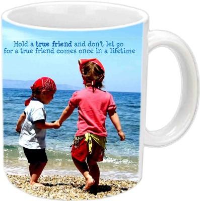 RajLaxmi Friend Forever Black Ceramic  Ceramic Mug