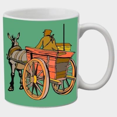 Printland Printland Cart White Coffee  350 - ml Ceramic Mug
