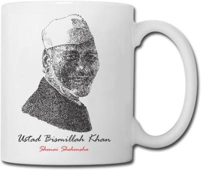 Raga Creations Ustad Bismillah Khan Theme Ceramic Mug