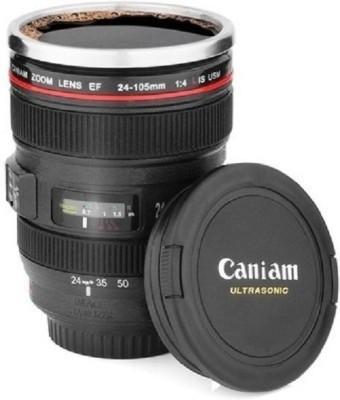 Tamex Photo Lens Shape Black Plastic Mug