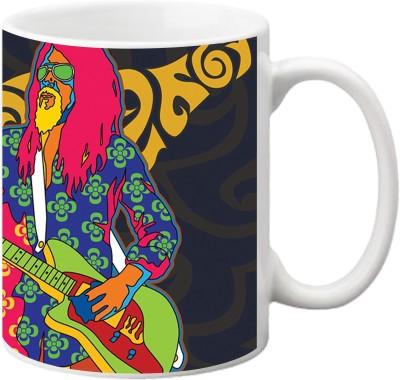 ezyPRNT Retro Music Pop Art Ceramic Mug