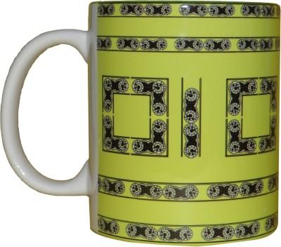 CreativesKart Tetris yellow Ceramic Mug