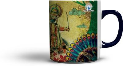 The Indian Graceful (Blue Colour Handle) Coffee Ceramic Mug