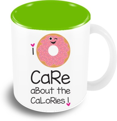 Thecrazyme I Don't Care about the Calories Coffee Ceramic Mug