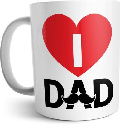 Chiraiyaa Happy Fathers Day - I Love dad Big Heart Ceramic Mug