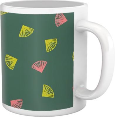 Tiedribbons Shy Shine_Geometric Multicolor_ Fly High Pattern Ceramic Mug