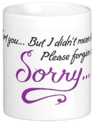 Easyhome Sorry Dear Ceramic Mug