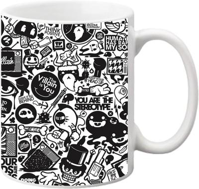 ezyPRNT Abstract Design Ceramic Mug