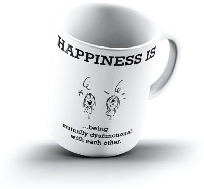 Ucard Happiness Is1560 Bone China, Ceramic, Porcelain Mug