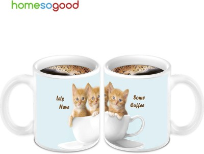 HomeSoGood Lets Have Some Coffee (2 s) Ceramic Mug