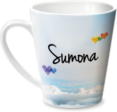 Hot Muggs Simply Love You Sumona Conical  Ceramic Mug