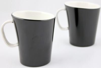 Hi Luxe Dbl Clr Melamine 42249 Dual - Black Melamine Mug