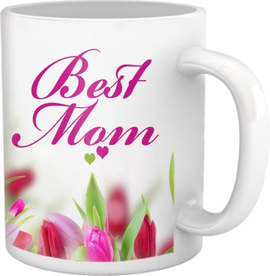 Tiedribbons Best Mom Coffee Ceramic Mug(350 ml)