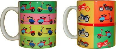 CreativesKart Scooters N Bike Ceramic Mug