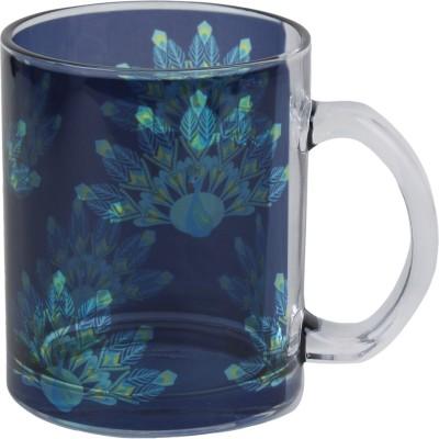 Keep Calm Desi Peacock Clear  Glass Mug