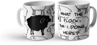 Tappu Ki Dukaan Black Sheep Bone China Mug
