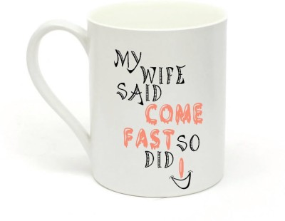 Sowing Happiness Come Fast Ceramic Mug